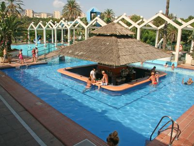 Photo for Benalmadena Costa Centro Beach front. Pools, slides. Conditioned air. 1a4pax