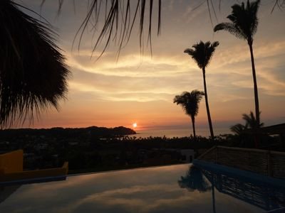 Photo for Rooftop infinity pool with ocean view is perfect for a great sayulita vacation