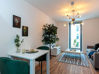 """Photo for """"Opulent Luxe Sage"""" - 1 Bed Apt + Gym"""