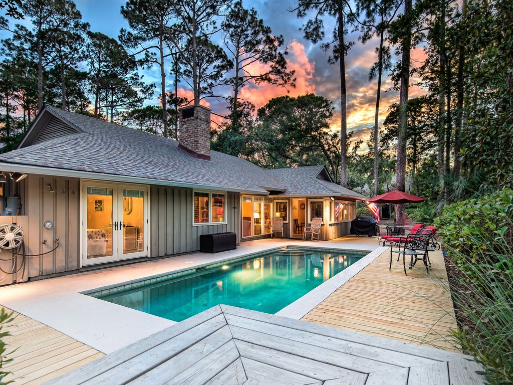 Charming 3br 2br Sea Pines Beach Cottage With Private Pool And Walk To Beach Hilton Head South