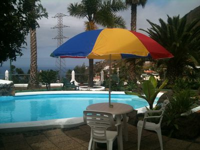 Photo for Tenerife: Wohnug. C for 2 Pers., Subtropical garden with pool & sea views