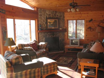 Photo for Family and Pet Friendly 3 Bedroom Log Lake Home on Gorgeous Agate Lake