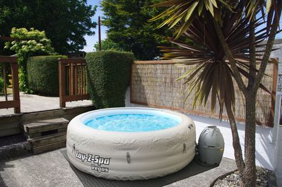 Enjoy a Hot Tub on your stay for a £20 set up fee and £10 per night.