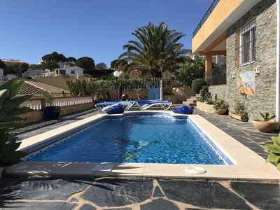 Photo for Big luxury villa, Free wifi, pool and private parking. views of the sea.