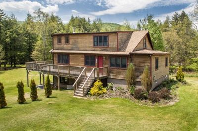 Spacious log home with plenty of privacy in the heart of the Catskills.