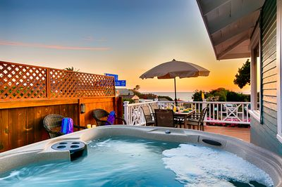 Enjoy sunset and ocean views from the new Jacuzzi hot tub.