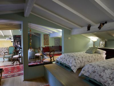 Photo for beautiful recently renovated apartment  in San Frediano, Firenze