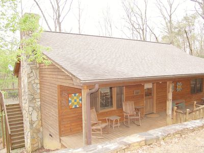 Photo for Cozy Cabin in relaxing Lake Lure ~ Peaceful home with Mirror Lake access