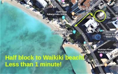Photo for Just listed - Ocean View half block from Waikiki Beach!