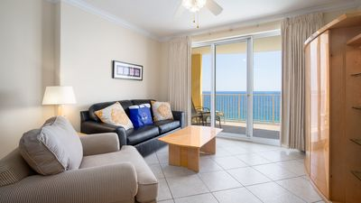 Photo for Vacation Directly On The Beach! Sleeps 6! Gulf View Master Bedroom!