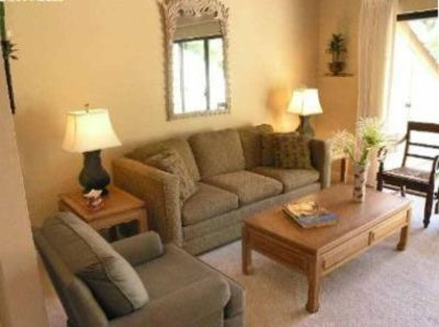 Tastefully decorated living areas with easy access to the lanai.