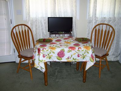 Table and flat screen TV