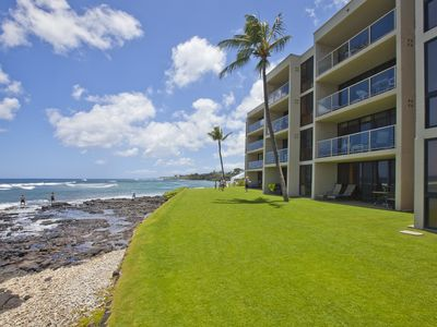 Photo for Kuhio Shores Oceanfront Condo Amazing Ocean Views & A/C in the Bedrooms!