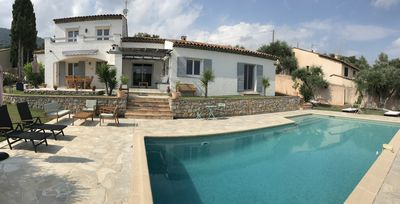 Photo for Charming 8 room villa with private pool overlooking hills