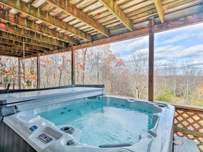 Photo for Lake Harmony Home w/ Hot Tub, Deck & Forest Views!