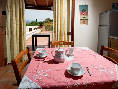 Photo for Typical apartment with large terrace overlooking the sea 150 meters from the beach za