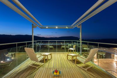 Lounge area at the top terrace of the house