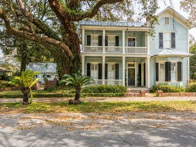 Photo for Historic District - Grand Victorian Home with Courtyard near Island Beaches