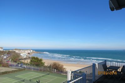 Balcony - tremendous views of St Ives harbour, Porthminster Beach and out to sea