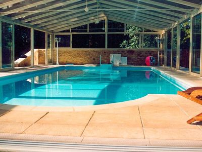 Photo for Luxury villa with covered and heated pool, hot tub and sauna, close to Sarlat