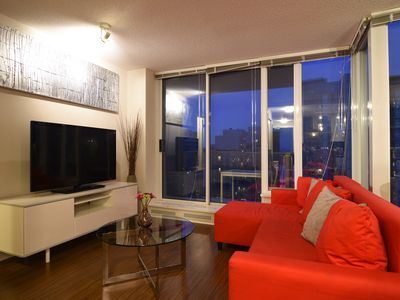 Photo for Elegant 2 Bedroom 2 Bath Condo In Downtown Vancouver, Parking Included