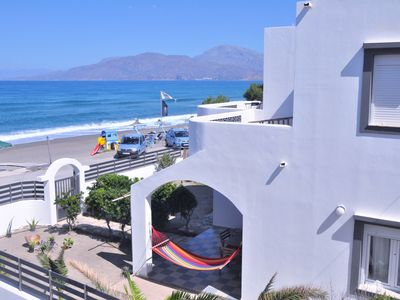 Photo for Kalamaki SeaSide - Entire Villa right in front of the beach