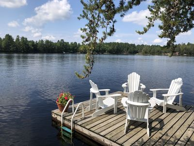 Photo for Gorgeous Cottage with 300+ft of lake frontage