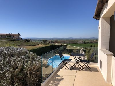Photo for Elegant Villa with Pool & Seaview near Rome and Tuscany