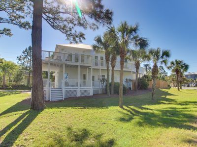 Photo for NEW LISTING! Beautiful home w/ private pool & furnished deck - walk to the beach