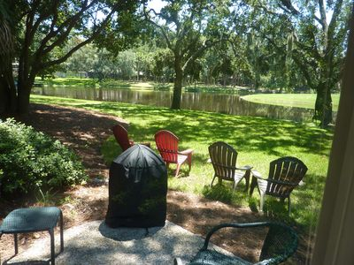 Photo for Seapines,beautifully updatedwalk beach,wifi,free bikes+tennis,pet ok,lagoon view