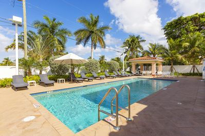 Pool - As part of a gated community, amenities include a pool.