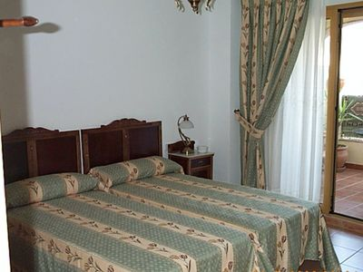 Photo for Double room with terrace/mountain view sleeps two, quality Spanish townhouse B&B