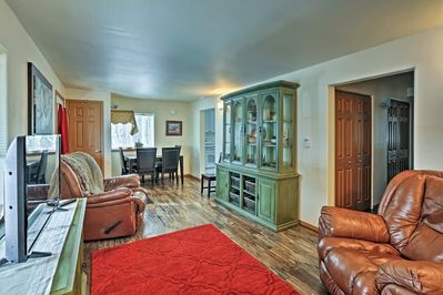 Inside offers 2 bedrooms, 1.5 bathrooms, and sleeping for 4!