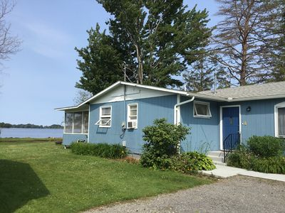 Front of the cottage faces the lake and catches the lovely shore breeze.