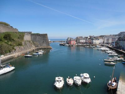 Photo for Apartment downtown view over the port and the Vauban citadel