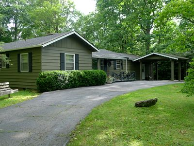 Photo for Tranquil Mirror Lake Paradise With Large Screened-in Porch!