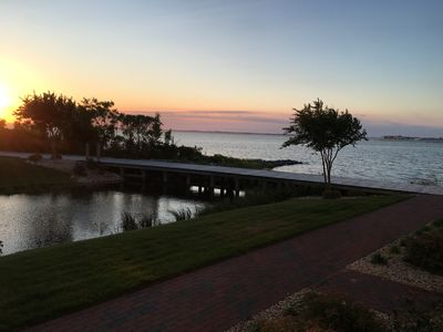 Photo for Canal Front Townhouse with Breathtaking Sunset Views of the Bay