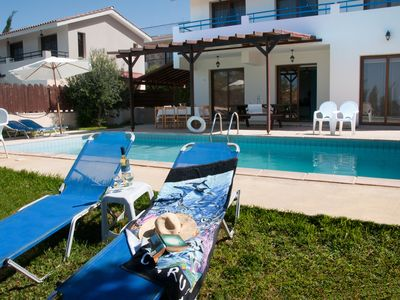 Photo for Holiday villas with private pool Kissonerga - Coral Bay