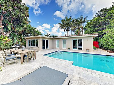Photo for New Listing! Upscale Hideaway by the Beach w/ Heated Pool & Chef's Kitchen