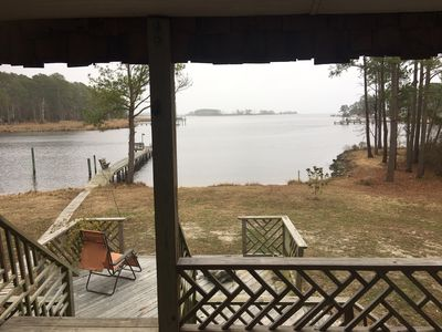 Photo for Peninsula Pier House on Kilby Island is a rustic 2 BR Cabin on Pamlico River