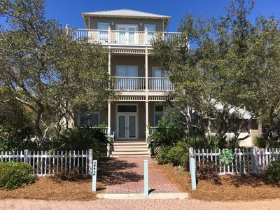 Photo for Beautiful home w/ private beach access across the street & pool 50 yards away.