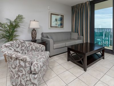 Photo for FREE Wifi ~ Balcony on the Beach~ Full Kitchen ~ Hotel Suite