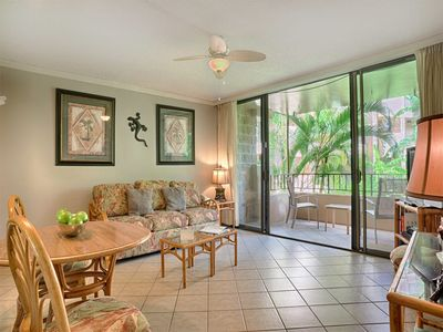 Photo for Touch Palms from Lanai! Comfy Style w/Kitchen, WiFi, Ceiling Fans–Paki Maui 211