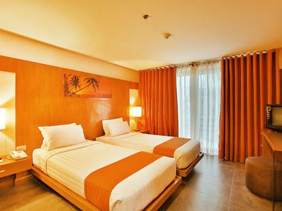 Photo for Boracay Station 3 Beach Front Deluxe Room for 3 Adults Luxurious Resort