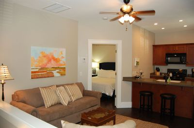 Spacious Living Room and Kitchen Area