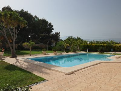 Photo for Nice holiday apartment, 50 sqm / 2 pers with large pool and garden, WiFi