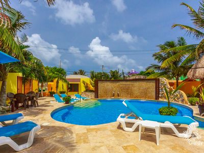 Photo for Adult-only luxury villa in tropical oasis, close distance to restaurants & beach