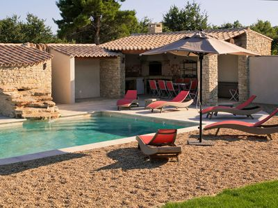Photo for Gordes - Luberon - Provencal farmhouse with heated pool and barbecue.