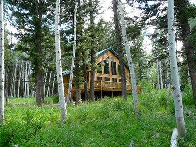 Photo for Secluded Cabin-in-the-Woods near Henry's Lake Close to Yellowstone Park!