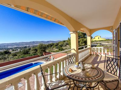 Photo for Catalunya Casas: Stunning Villa Oliva with incredible mountain views and pool! Up to 8 guests!